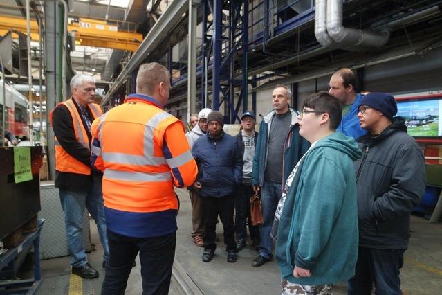 Besichtigung im TS-Werk Jedlersdorf