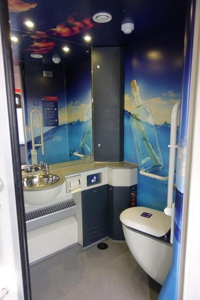 Moderne WC-Anlagen sorgen für hohen Komfort der Fahrgäste