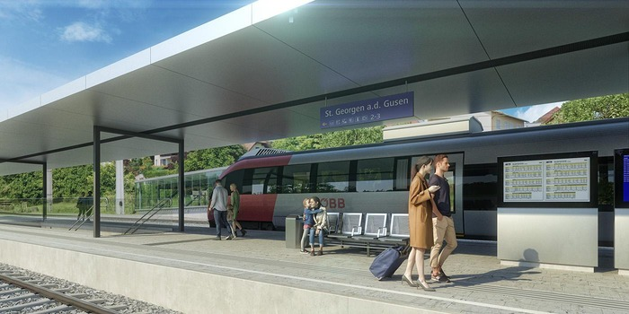 Visualisierung neuer Bahnhof St. Georgen/Gusen