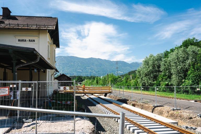 Bauarbeiten Maria-Rain