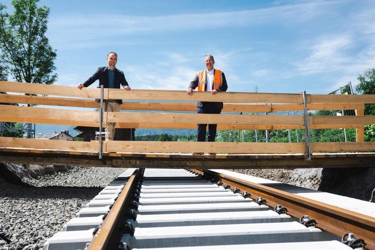Links: Projektleiter ÖBB-Infrastruktur AG Gerald Zwittnig; rechts: Projektkoordinator ÖBB-Infrastruktur AG Gerhard Pajer