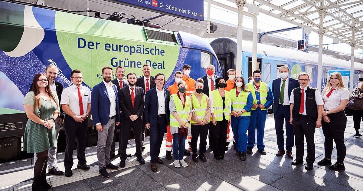 ÖBB: Rekordzug Connecting Europe Express zu Gast in Salzburg