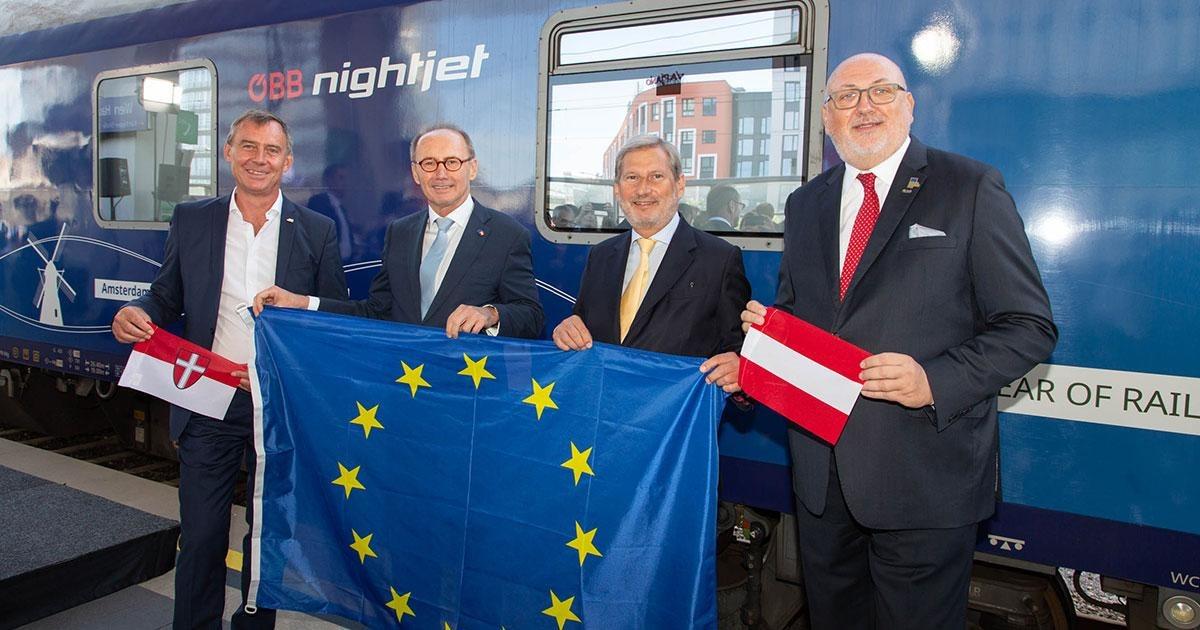 ÖBB: Der Connecting Europe Express (CEE) als Botschafter für grenzüberschreitenden Bahnverkehr macht Halt in Wien