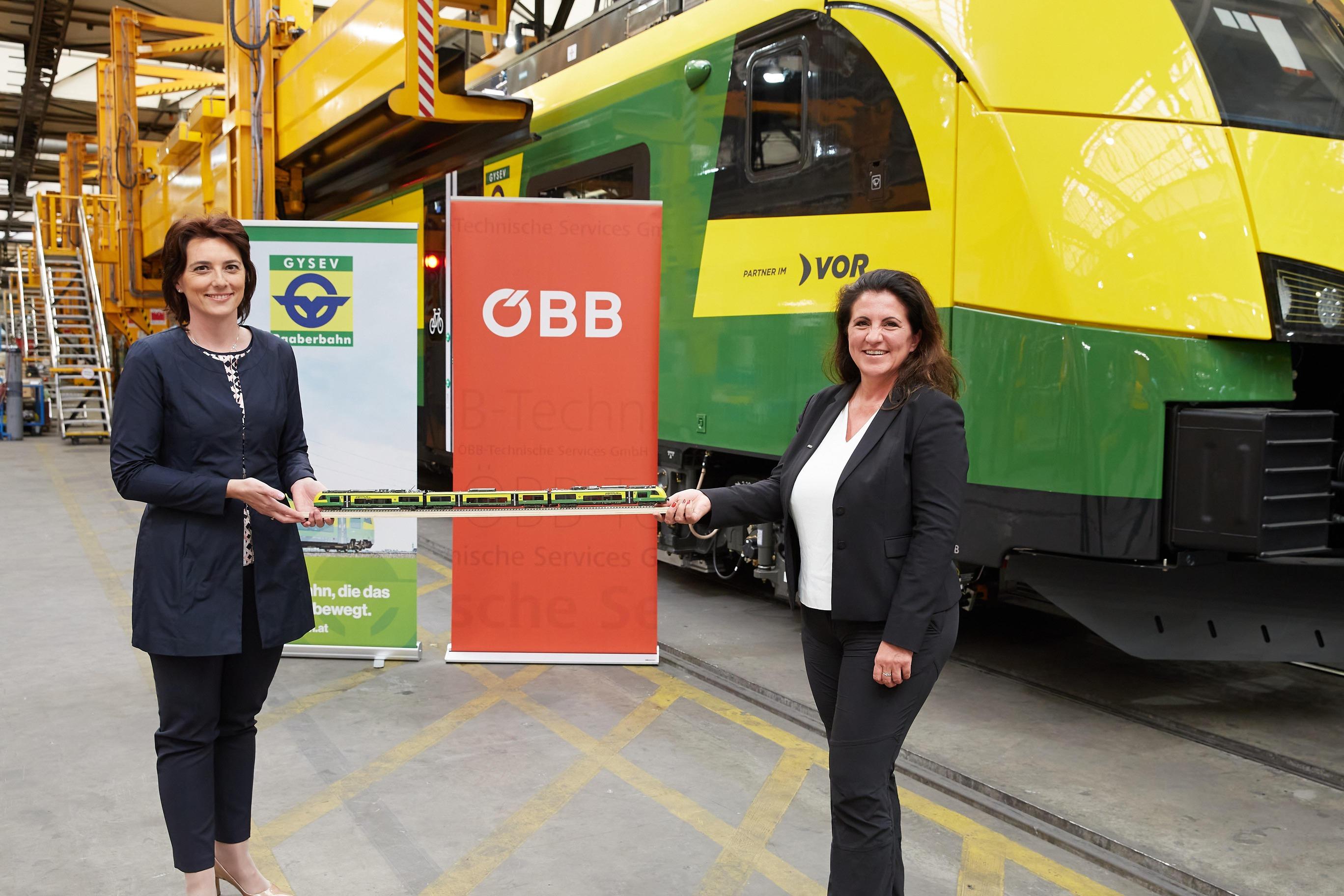Hana Dellemann (Generaldirektorin-Stv. Raaberbahn AG) u. Sandra Gott-Karlbauer (Geschäftsführerin ÖBB-Technische Services GmbH)