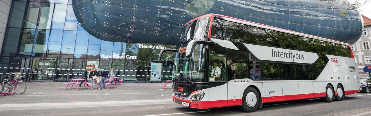 Intercitybus in Graz