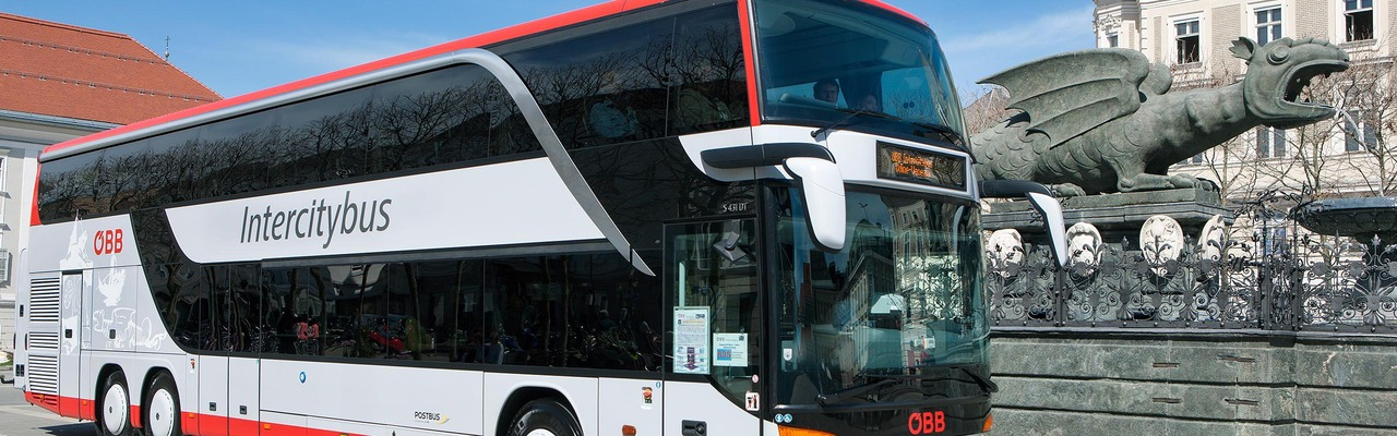 Intercitybus in Klagenfurt