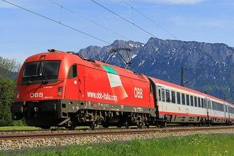 DB-ÖBB Zug in Oberaudorf