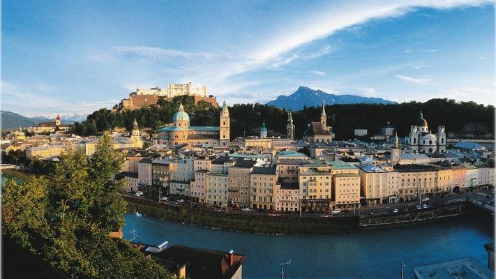 Panoramabild von Salzburg