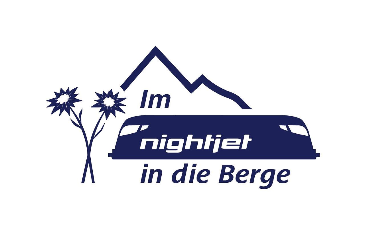 """Logo """"Im Nightjet in die Berge"""""""