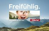 Werbesujet Zillertaltourismus Freifühlig