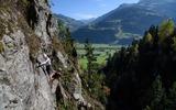 Kletterer am Klettersteig Talbach