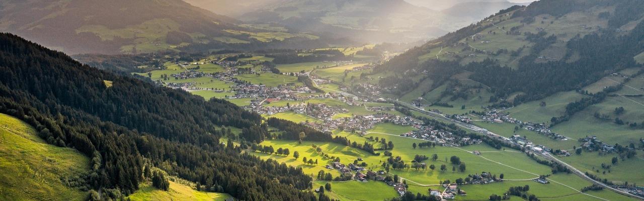 Panoramaansicht von Brixen und Westendorf