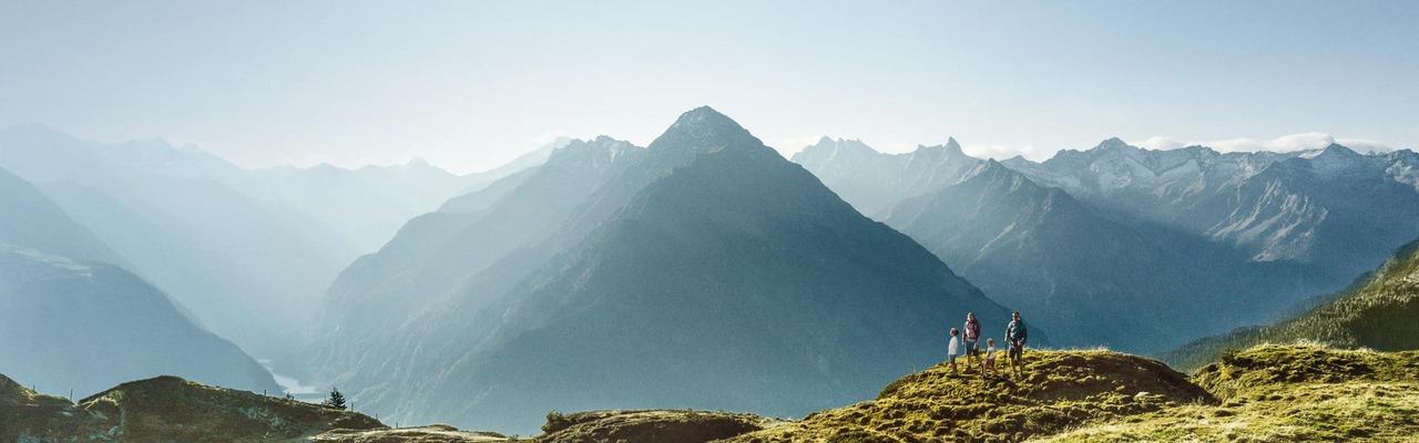 Bergpanorama in der Region Zillertal