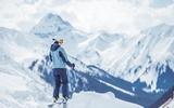 Skifahrerin in der Tiroler Zugspitz Arena