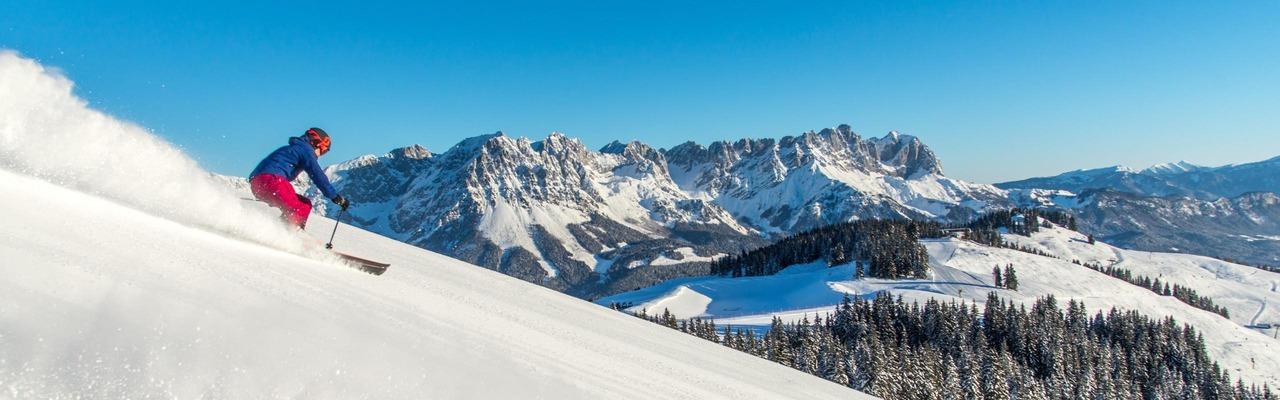 2 Skifahrer in der SkiWelt Wilder Kaiser - Brixental
