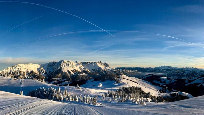 Bergpanorama in der SkiWelt Wilder Kaiser-Brixental