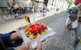 Cialde belghe con cioccolato e fragole