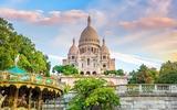 De Sacre Coeur-kathedraal op Montmartre