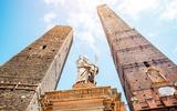 Bologna Türme und Statue