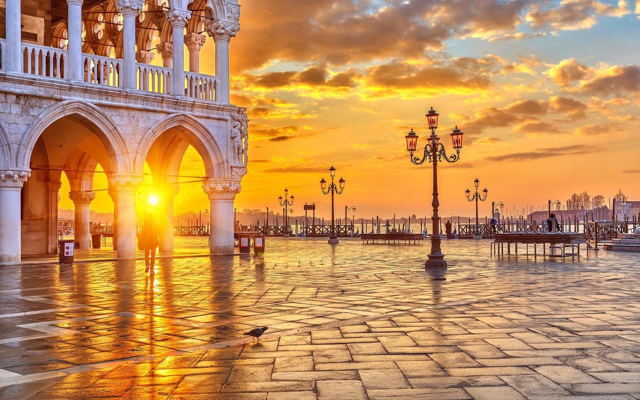 Venetië uitzicht vanaf het San Marcoplein