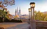 Vue sur le centre-ville de Zagreb