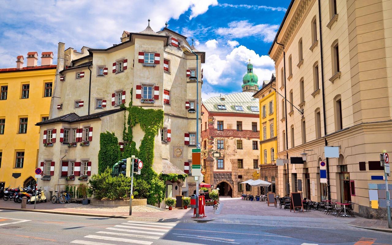 De oude stadsbouw van Innsbruck