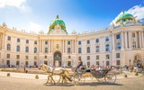 Vienna carriage in front of the old Hofburg