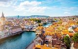 Uitzicht op de stad Zürich