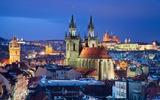 Prague City view by night