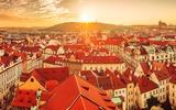 Prague city panorama