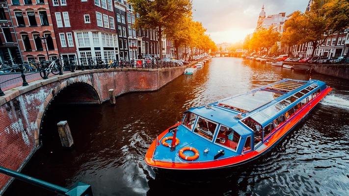 Giro in barca ad Amsterdam