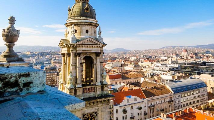 Uitzicht op de stad Boedapest