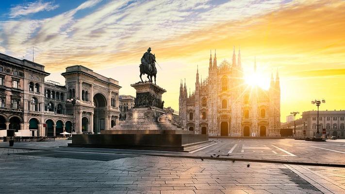 Milan Cathedral at sunset