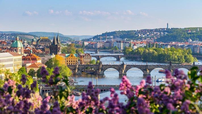 Uitzicht op de stad Praag Vltava