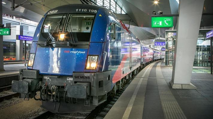 Nightjet at Vienna Central Station