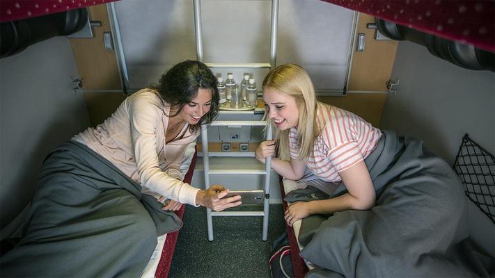 Ladies in the Nightjet couchette car