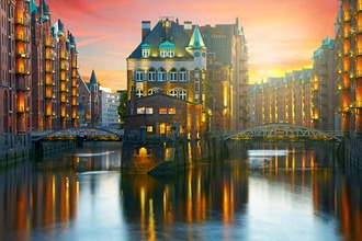 Oude pakhuisdistrict van Hamburg