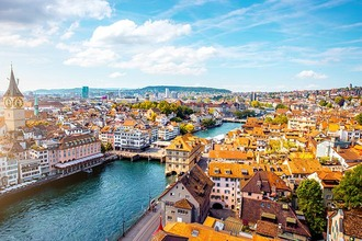 Zurich city panorama