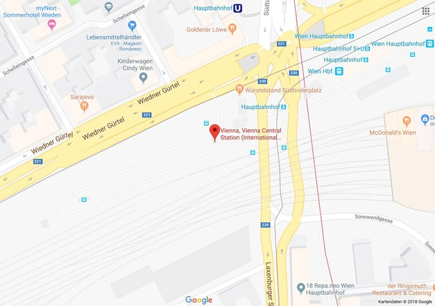 Übersichtskarte Busterminal Wien