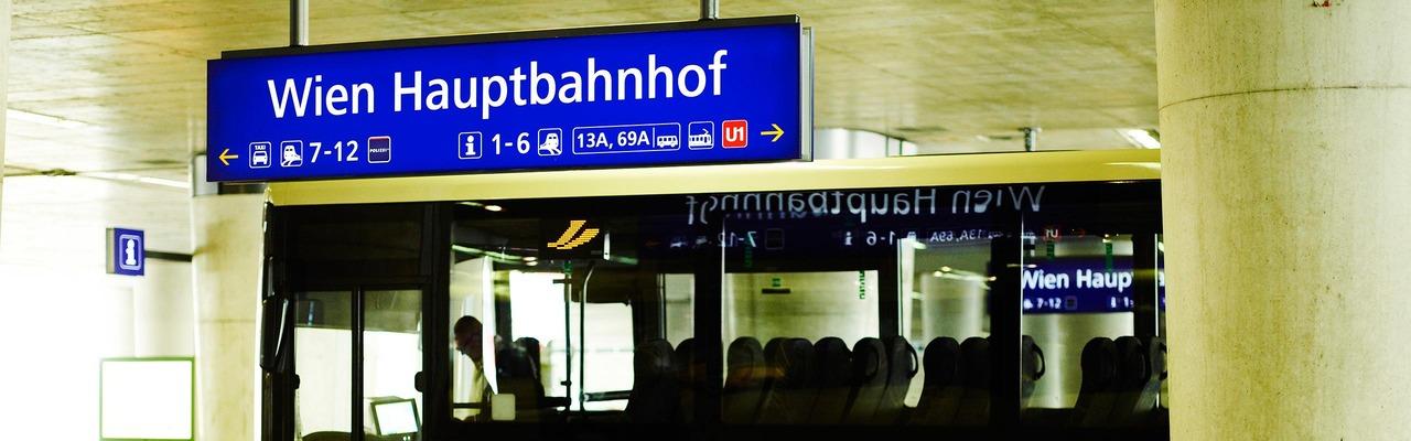 Busterminal am Hauptbahnhof Wien