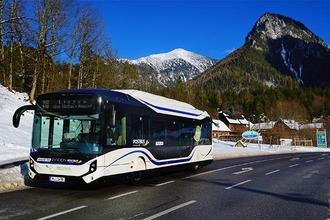 E-Bus unterwegs in der Steiermark