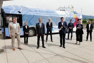 Management vor Wasserstoffbus