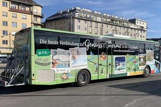 Thermenlandbus mit Fahrradanhänger