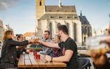 Biergarten in Pilsen