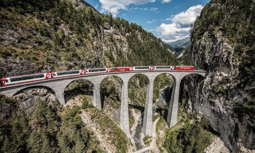 Glacier Express Landwasser Viadukt