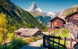 Zermatt Dorf mit Matterhorn