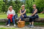 Sissi, Lotte und Ilse beim Rasten