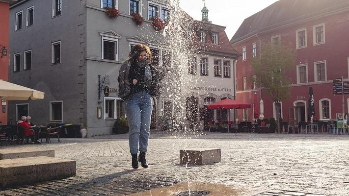 Stadtplatz mit Brunnen