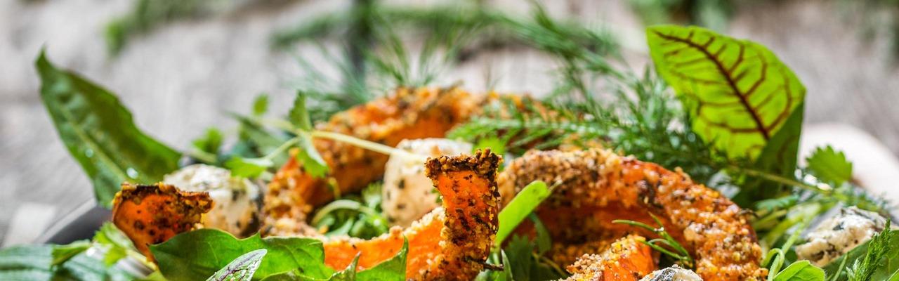 Herbstlicher Salatteller