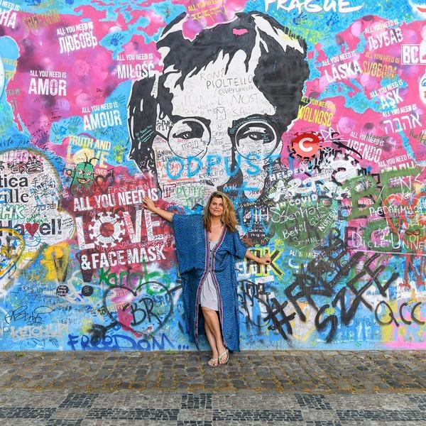 Lennon Wall in Prag